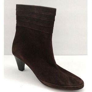 $245 Women Amalfi Brown Suede Leather Ankle Boot